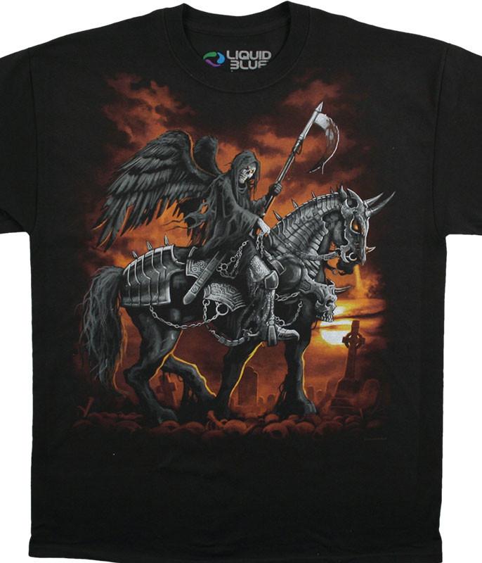 REAPER HORSE BLACK T-SHIRT