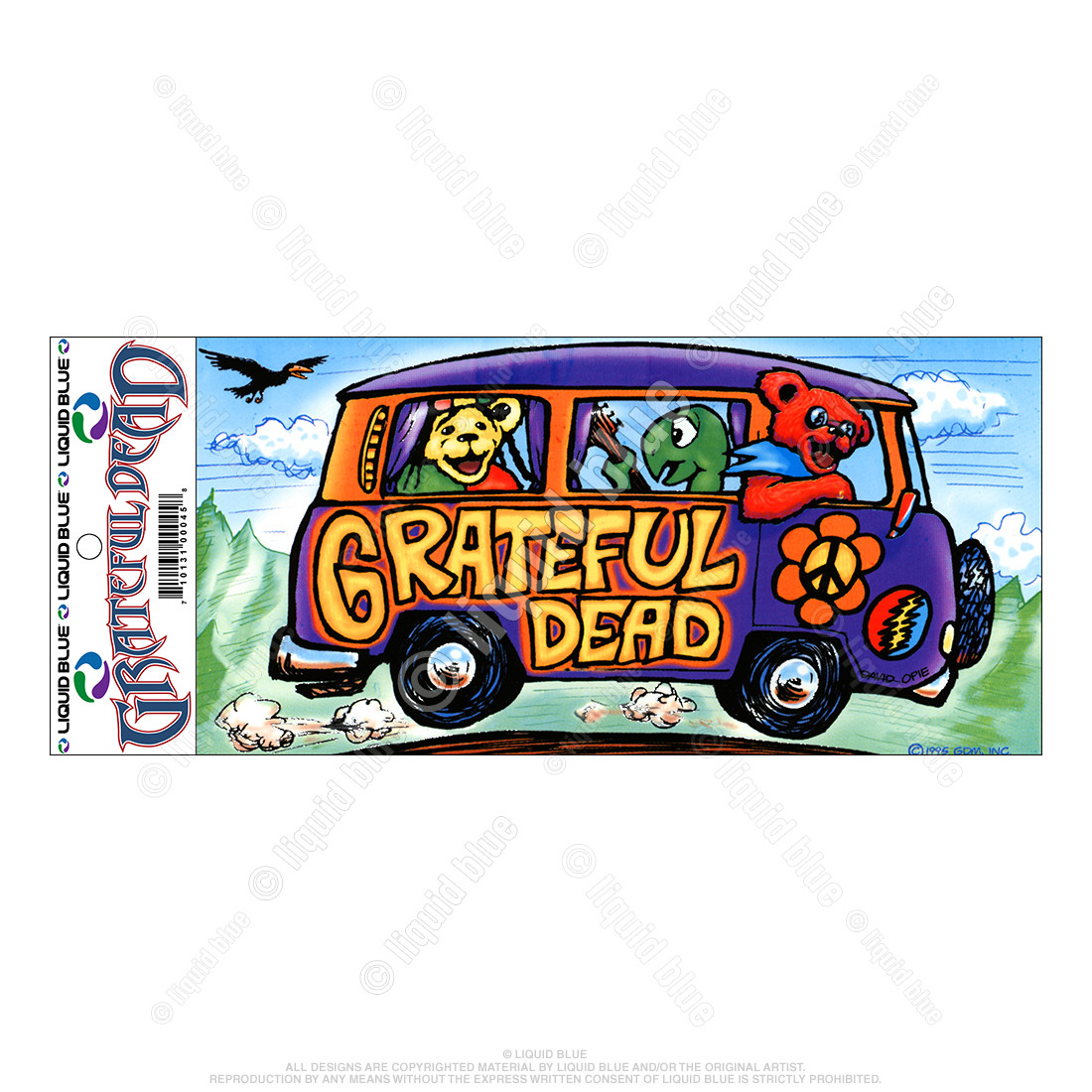 Summer Tour Bus Sticker