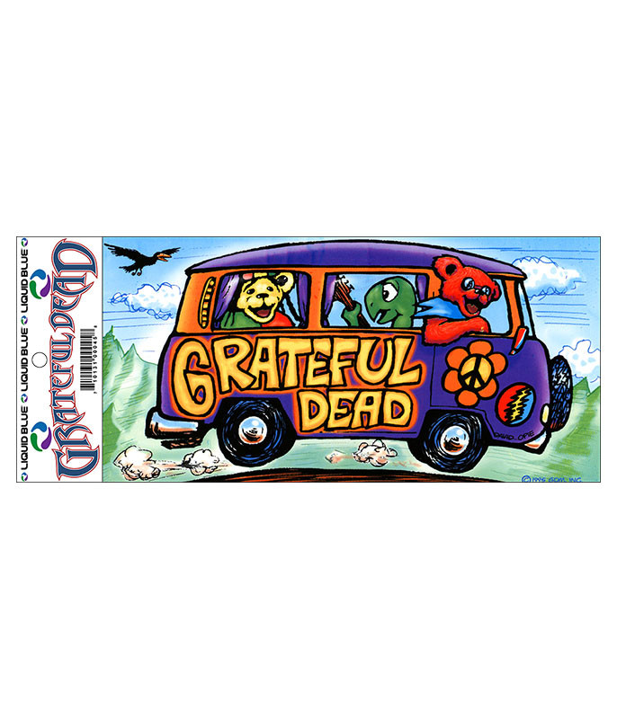 Grateful Dead Summer Tour Bus Sticker Liquid Blue