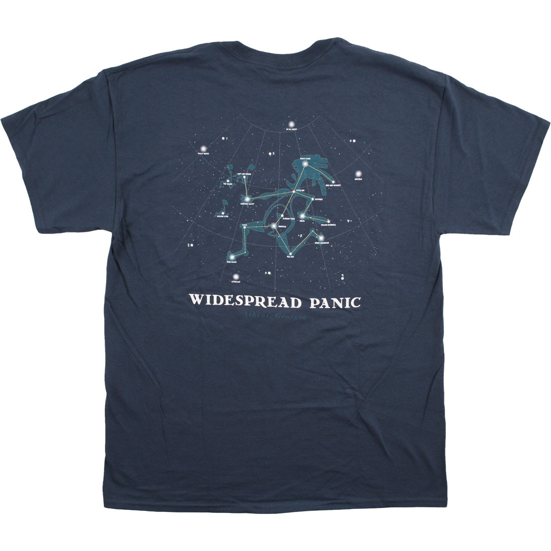 Widespread Panic Note Eater Navy T Shirt Tee Liquid Blue