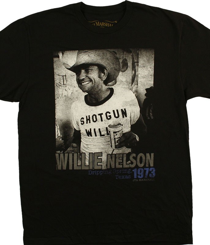 Willie Nelson Shotgun Willie Black T-Shirt Tee