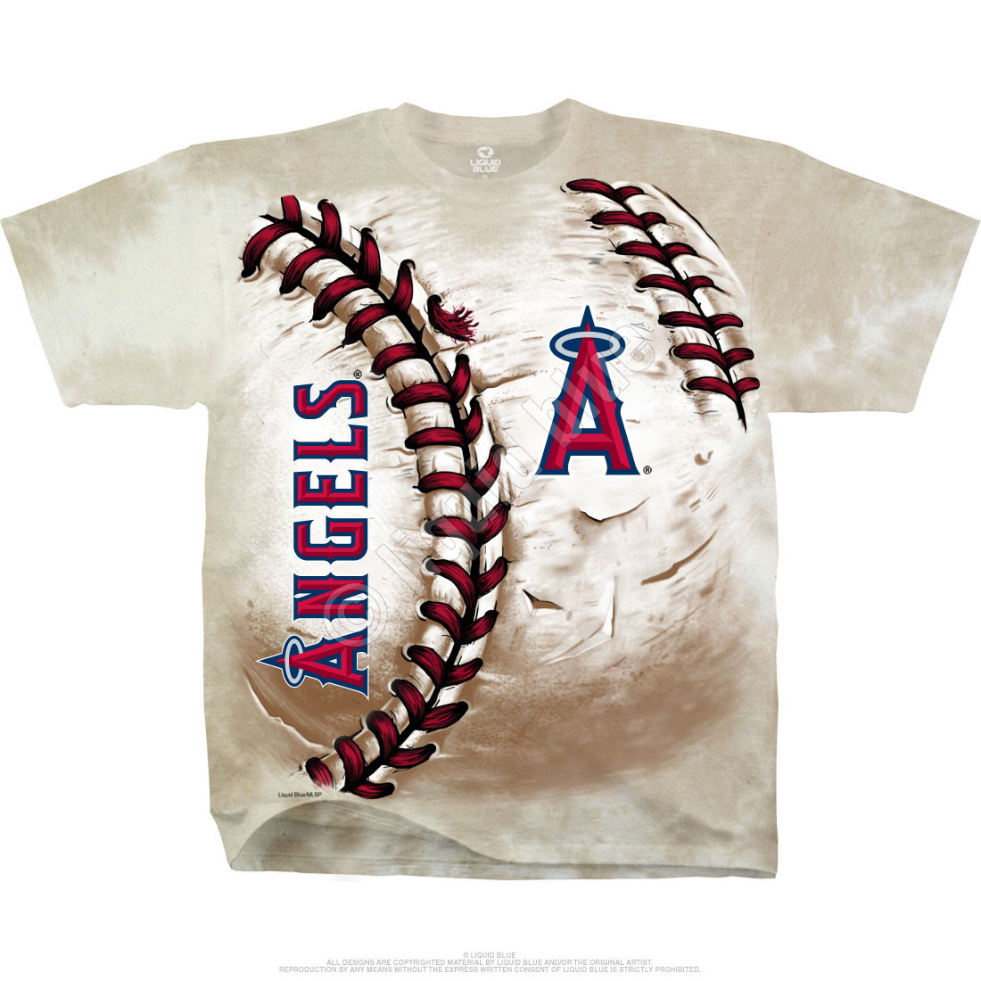 Los Angeles Angels Hardball Tie-Dye T-Shirt