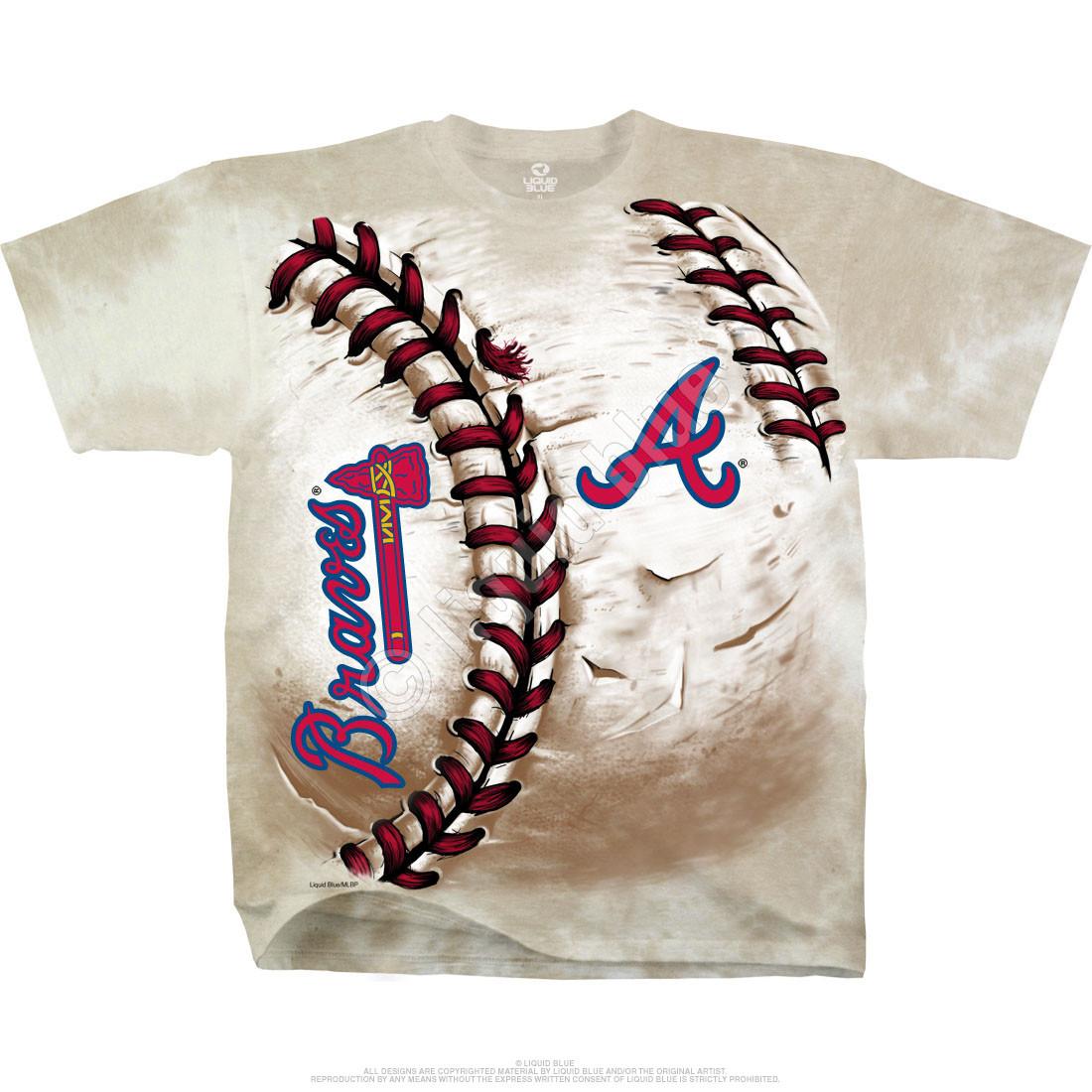 Atlanta Braves t-shirt with Atlanta Braves baseball written on front