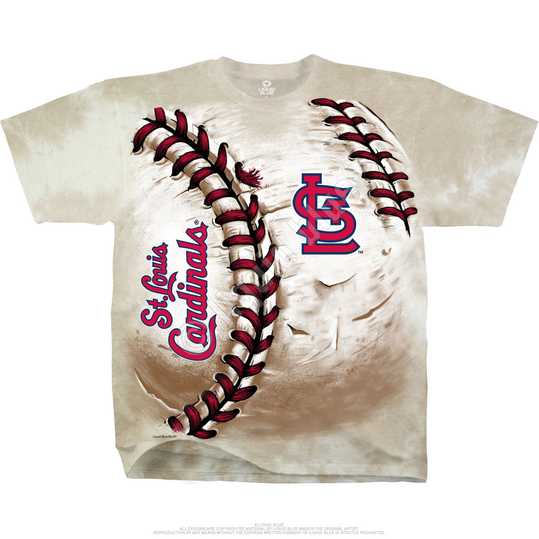 St. Louis Cardinals Hardball Tie-Dye T-Shirt
