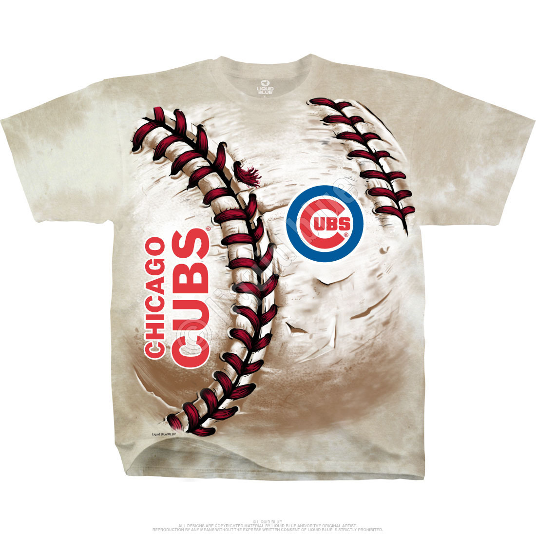 Chicago Cubs Hardball Tie-Dye T-Shirt
