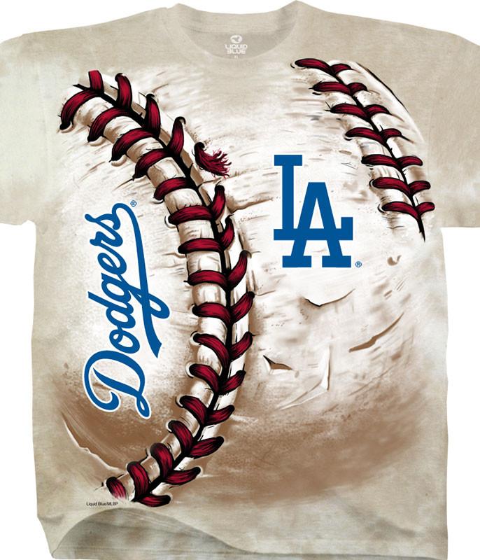 MLB Los Angeles Dodgers Hardball Tie-Dye T-Shirt Tee Liquid Blue