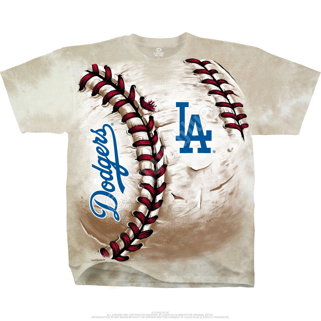 Los Angeles Dodgers Hardball Tie-Dye T-Shirt