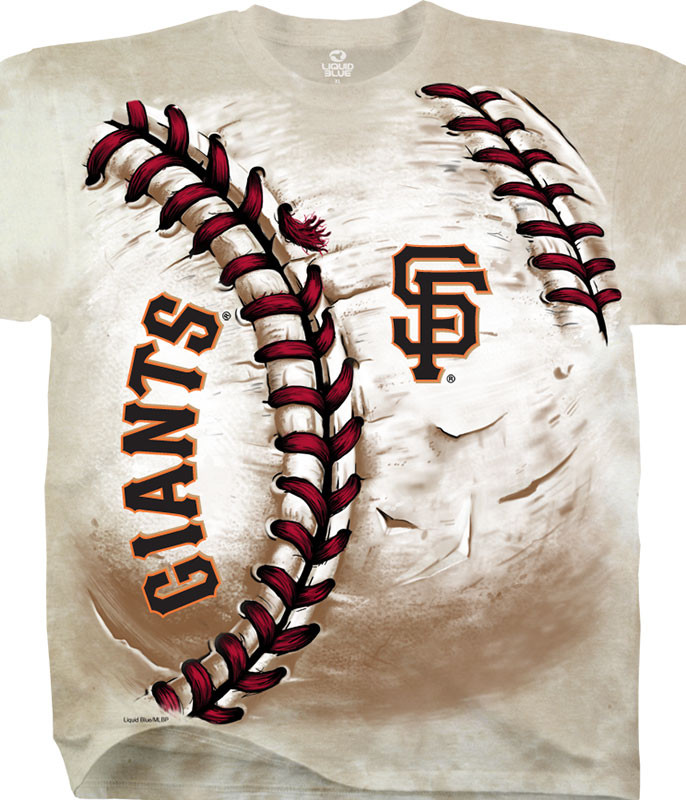 MLB San Francisco Giants Hardball Tie-Dye T-Shirt Tee Liquid Blue