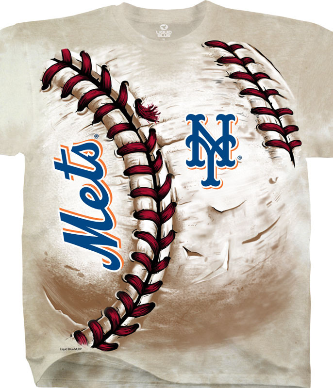 MLB New York Mets Hardball Tie-Dye T-Shirt Tee Liquid Blue