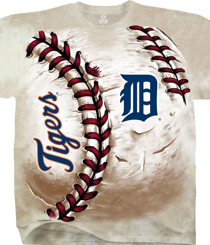 Detroit Tigers Hardball Tie-Dye T-Shirt