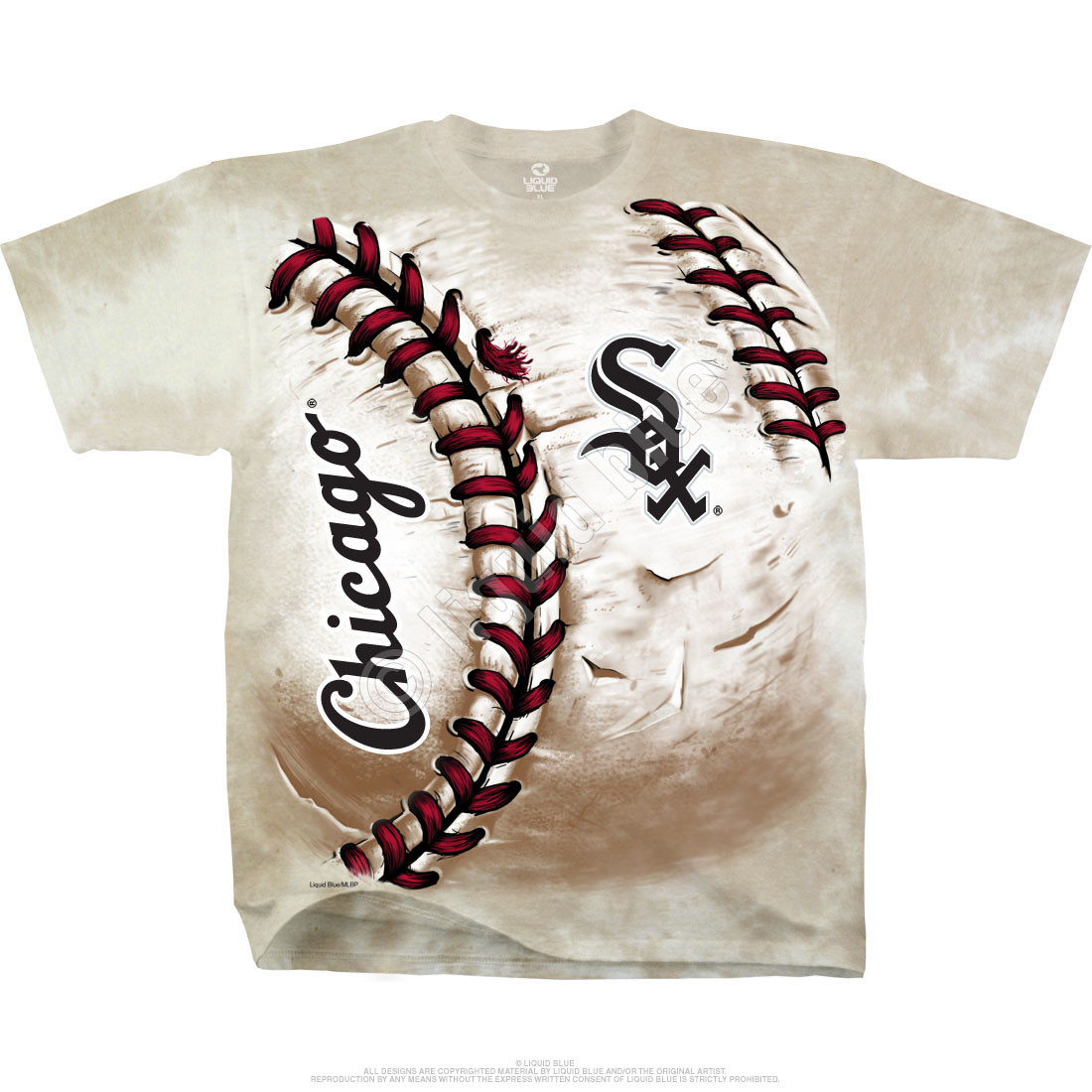 Chicago White Sox Hardball Tie-Dye T-Shirt