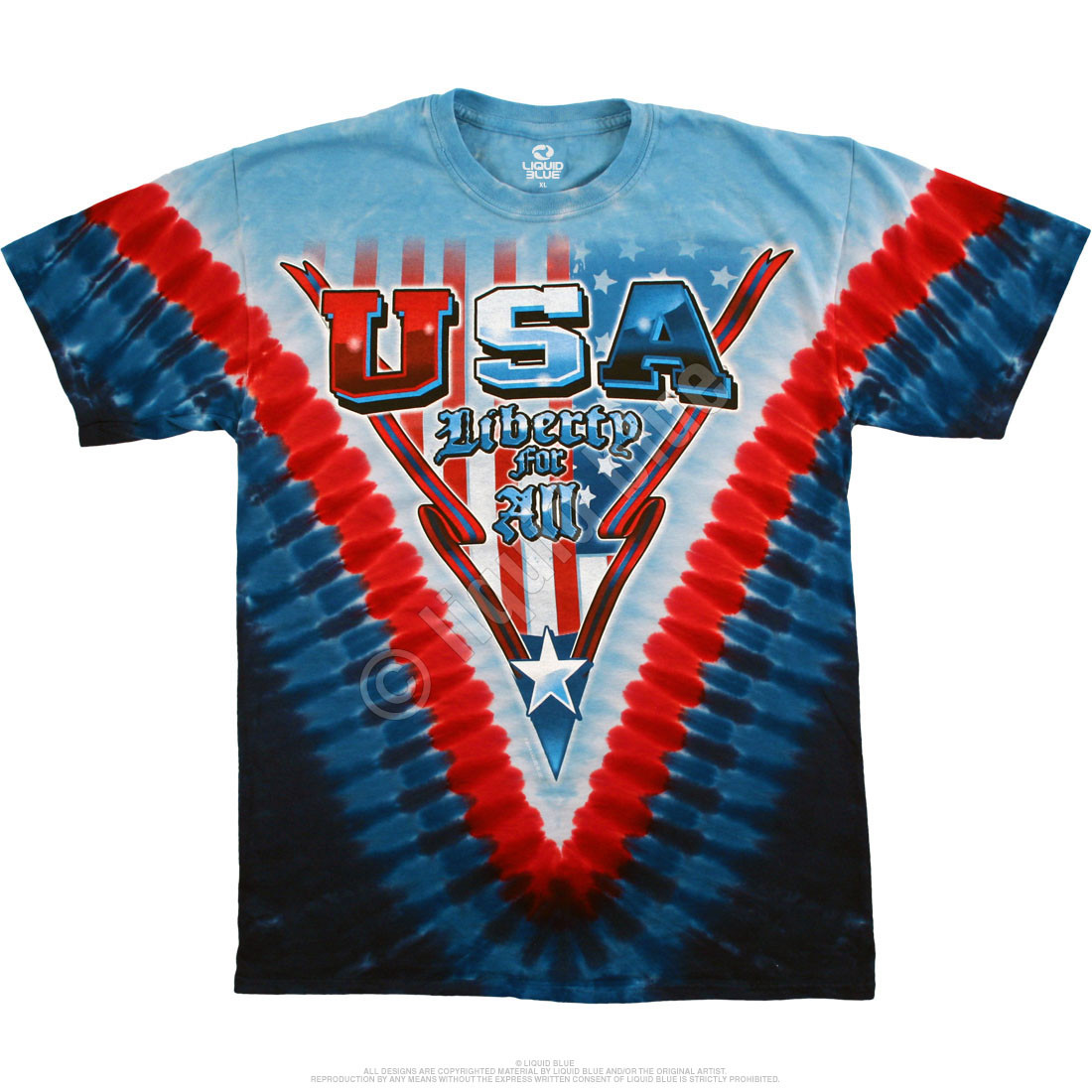 Liberty For All Tie-Dye T-Shirt