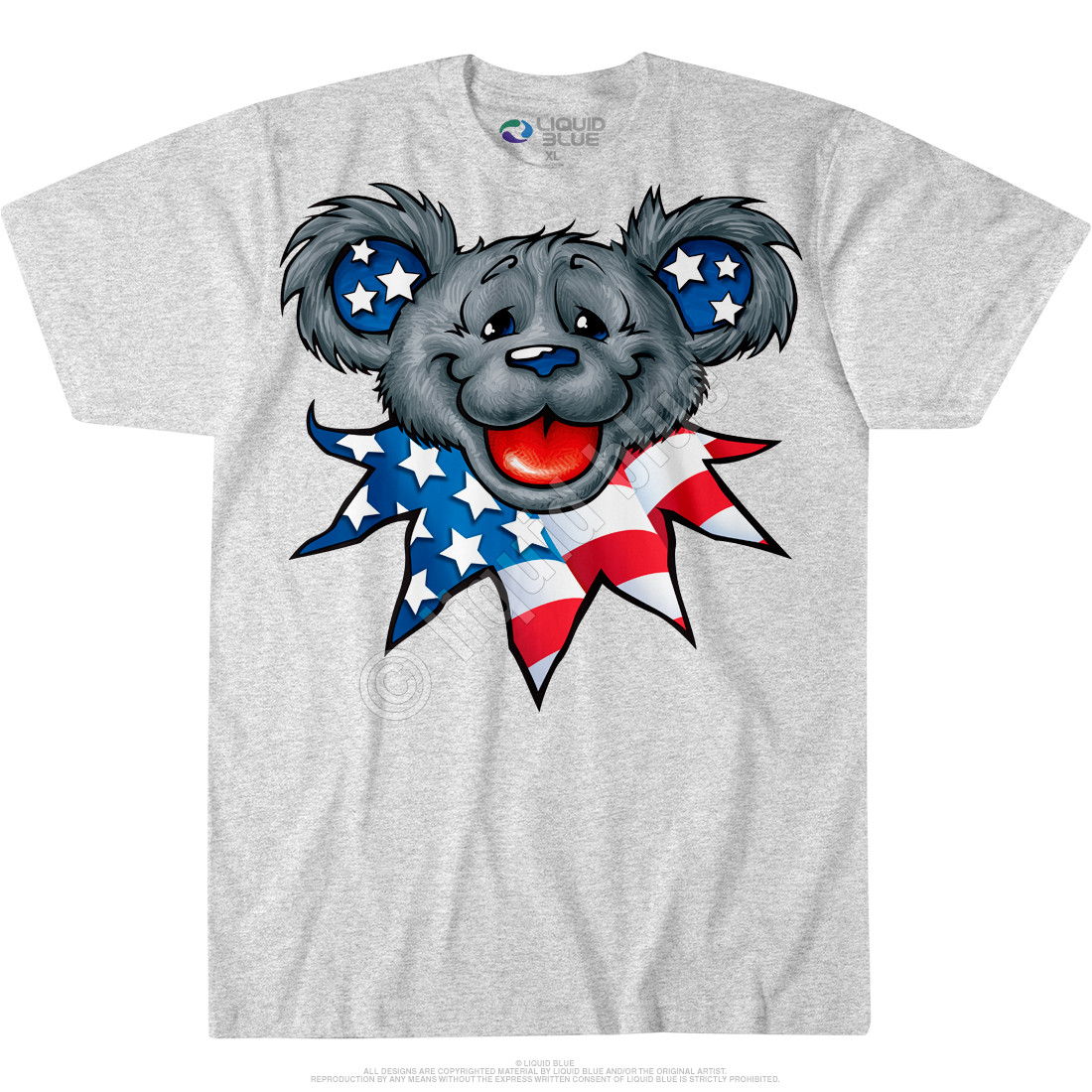 Patriot Bear Head Custom T-Shirt