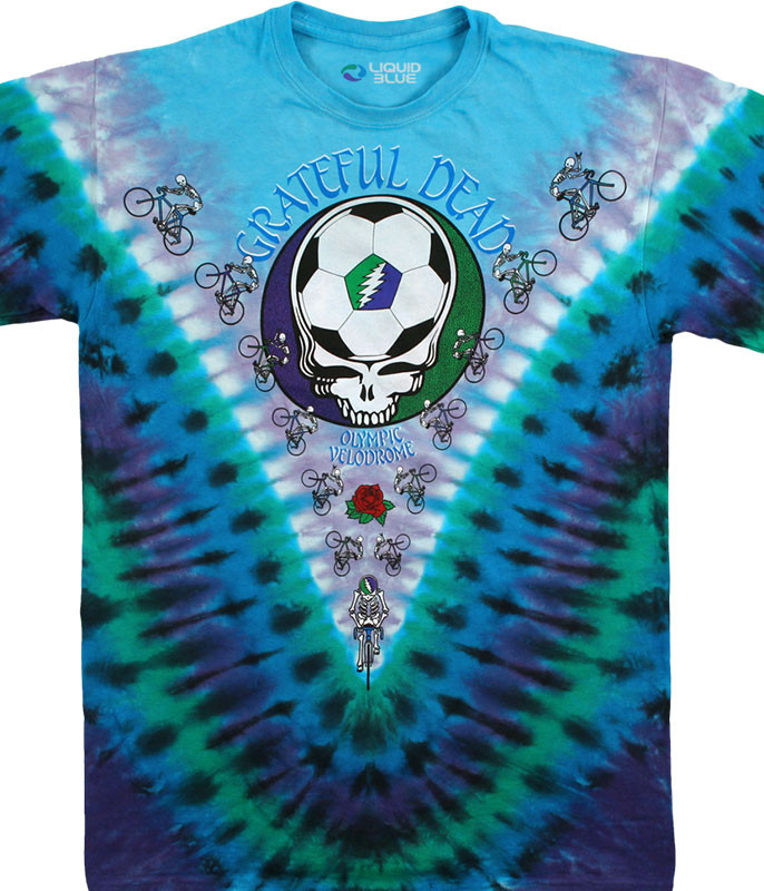 Grateful Dead Cal State Tie-Dye T-Shirt Tee Liquid Blue