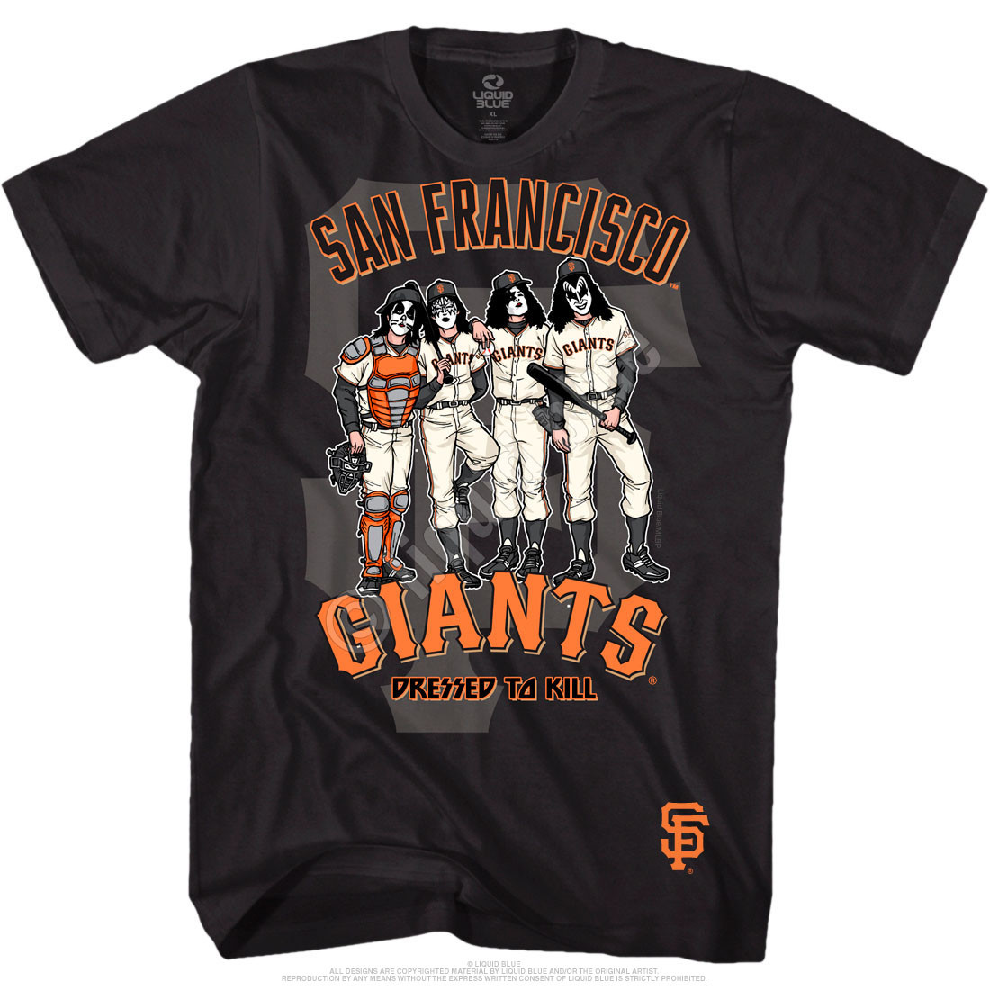 San Francisco Giants Dressed to Kill Black T-Shirt