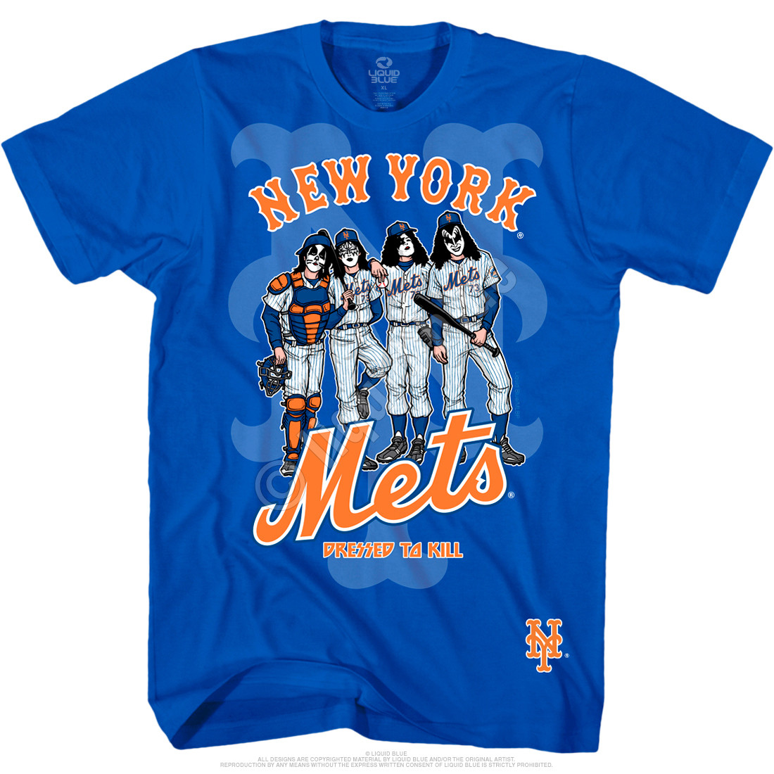 New York Mets Dressed to Kill Blue T-Shirt