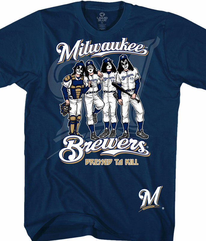 Milwaukee Brewers Dressed to Kill Navy T-Shirt