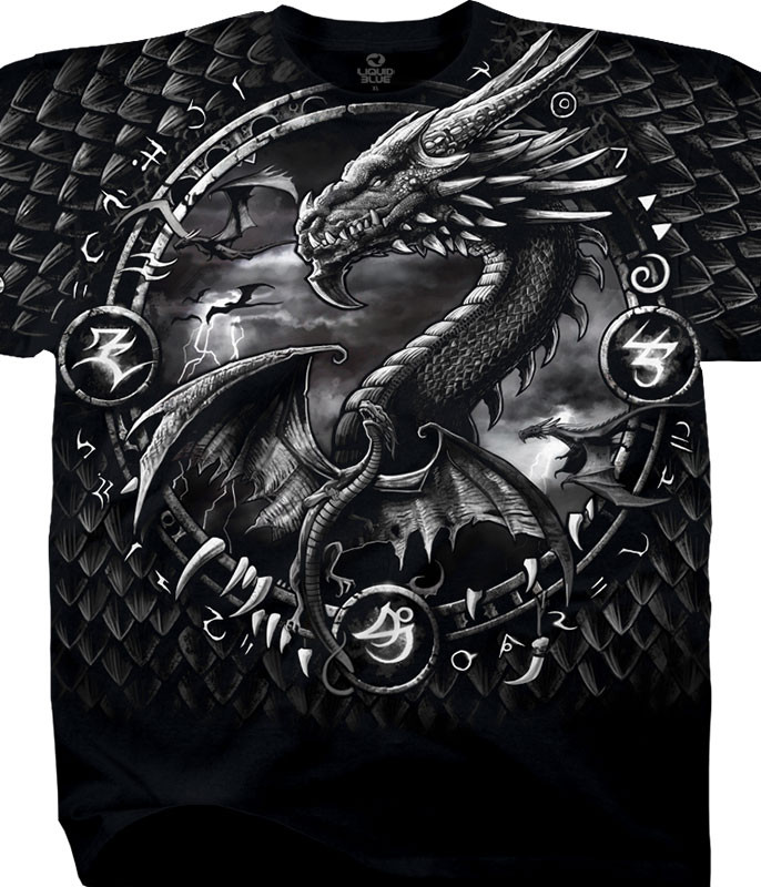 DRAGON DREAMCATCHER BLACK T-SHIRT