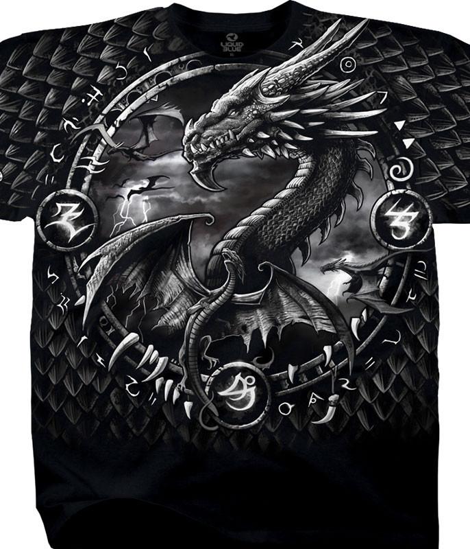 Dragon Dreamcatcher Black T-Shirt