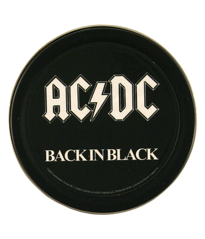 AC/DC Back In Black Round Stash Tin