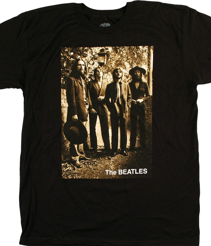 Beatles Sepia '69 Black T-Shirt Tee