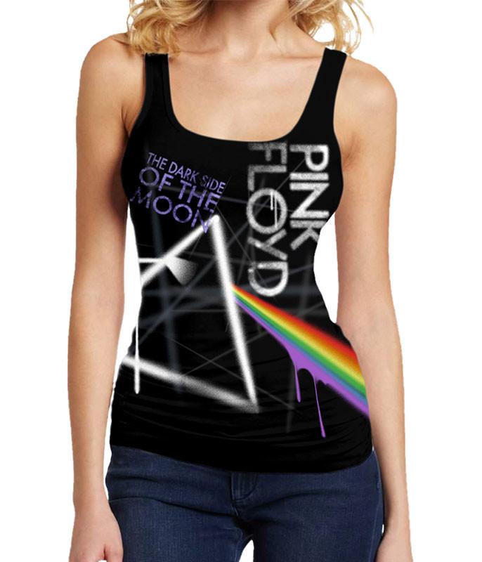 Dark Side Graffiti Black Juniors Tank Top T-Shirt
