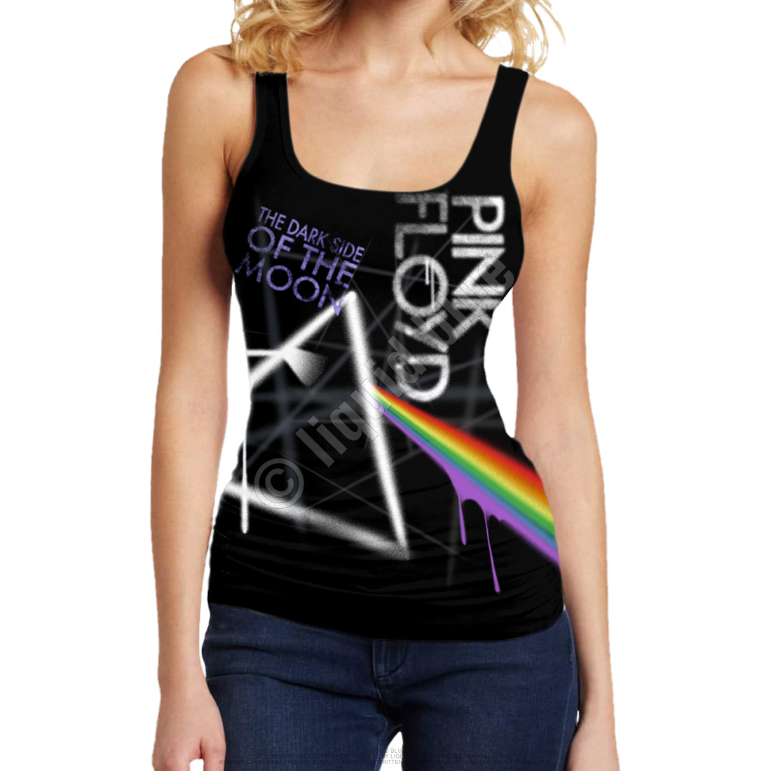 Dark Side Graffiti Black Juniors Tank Top T-Shirt