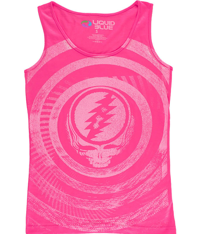 RIPPLE TIE-DYE JUNIORS TANK TOP T-SHIRT