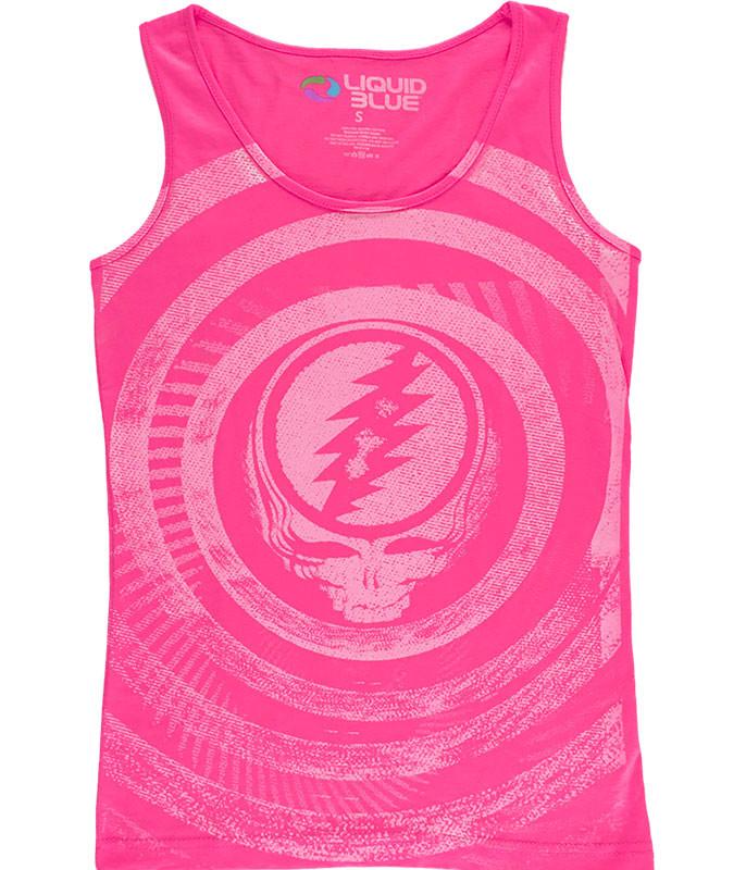 Ripple Pink Juniors Tank Top T-Shirt