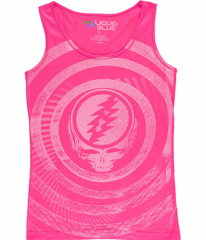 Grateful Dead Ripple Pink Juniors Tank Top T-Shirt Tee Liquid Blue