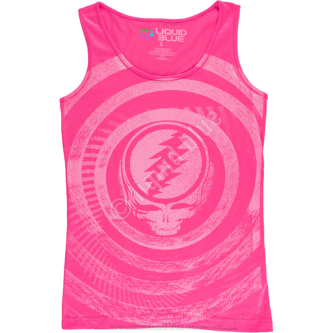 b8f2970f27e60 Grateful Dead Ripple Pink Juniors Tank Top T-Shirt Tee Liquid Blue