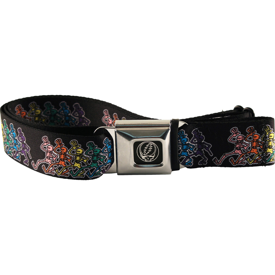 Dancing Skeletons Seatbelt Belt Black
