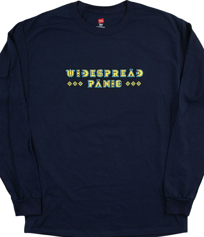 Widespread Panic Rainsong Navy Long Sleeve T-Shirt Tee