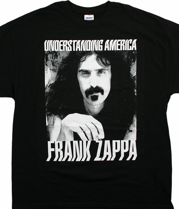 ZAPPA UNDERSTANDING AMERICA BLACK T-SHIRT