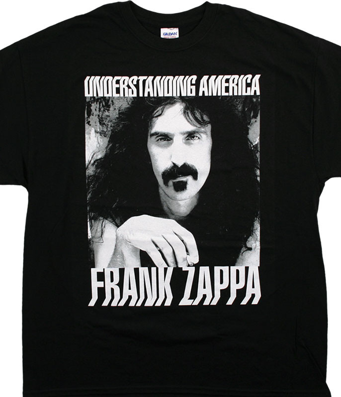 Frank Zappa Understanding America Black T-Shirt Tee
