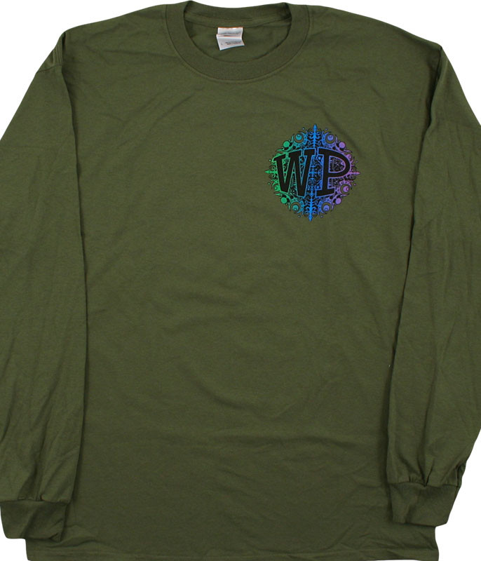 Widespread Snowflake Green Long Sleeve T-Shirt