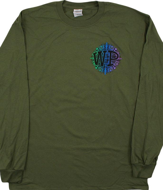 Widespread Panic Snowflake Green Long Sleeve T-Shirt Tee