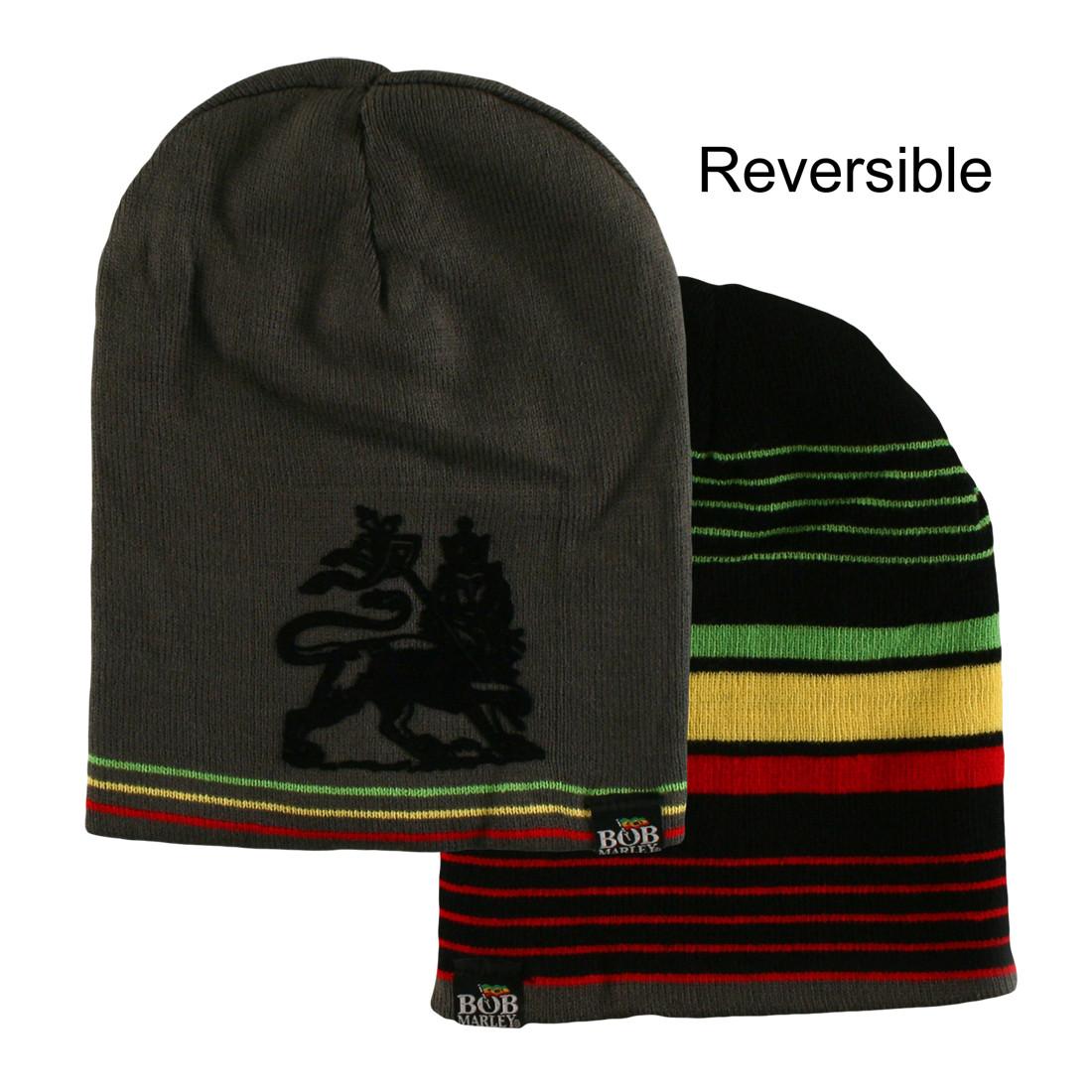 Marley Rasta Stripe Reversible Beanie