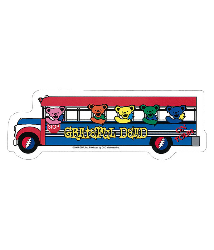 Grateful Dead GD Bears on the Bus Sticker