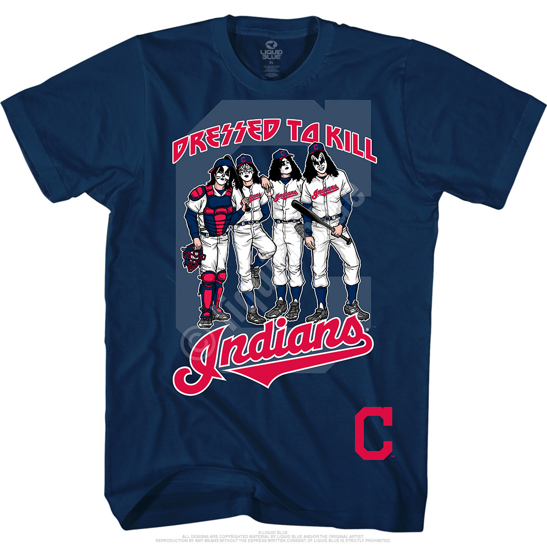 Cleveland Indians Dressed to Kill Navy T-Shirt