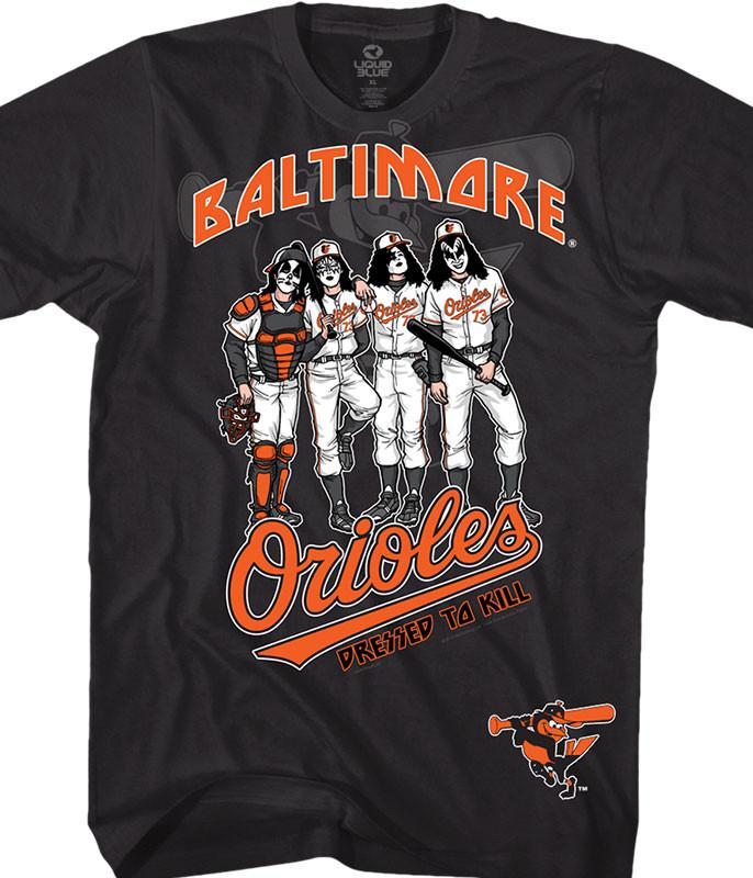 Baltimore Orioles Dressed to Kill Black T-Shirt
