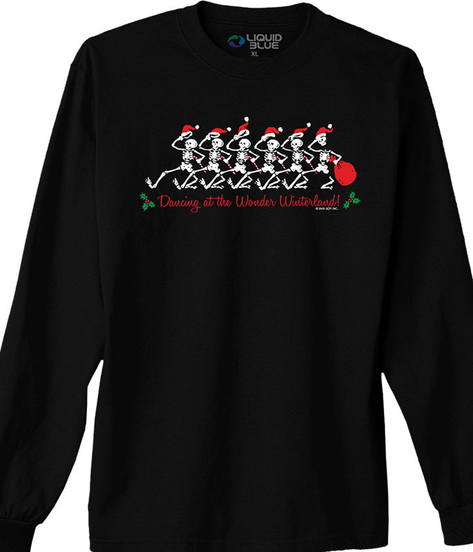 Grateful Dead Wonder Winterland Black Long Sleeve T-Shirt Tee