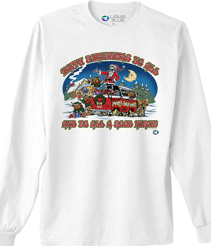 HAPPY CHRISTMAS WHITE LONG SLEEVE T-SHIRT