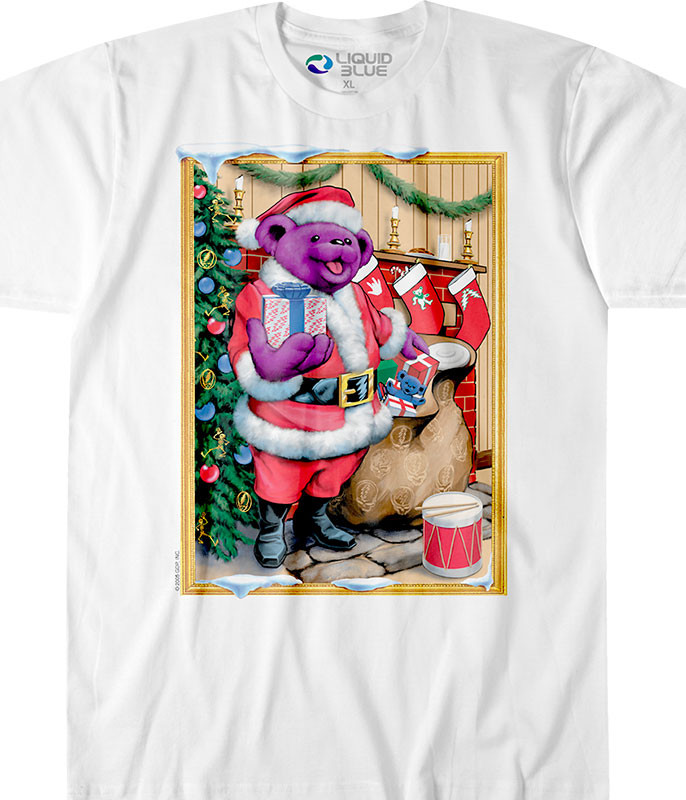 Santa Bear White T-Shirt
