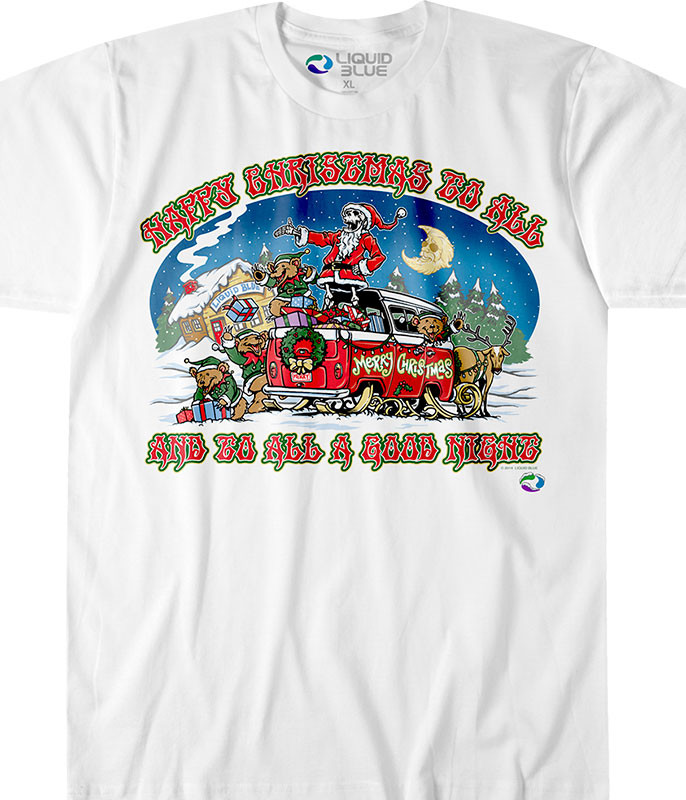 Happy Christmas White T-Shirt Tee Tee