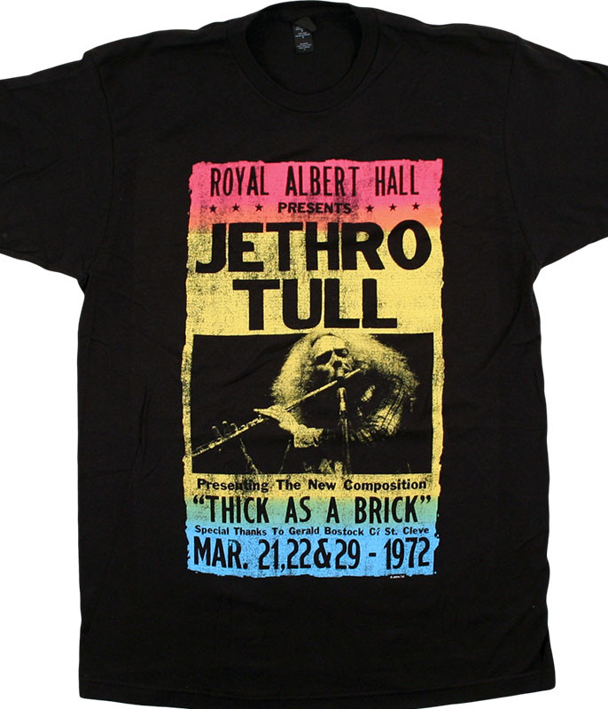 JETHRO TULL ROYAL ALBERT HALL BLACK T-SHIRT