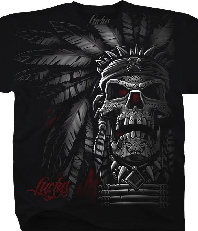 Chief Skull Black T-Shirt