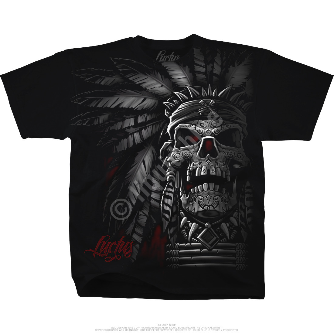 Chief Skull Black T-Shirt