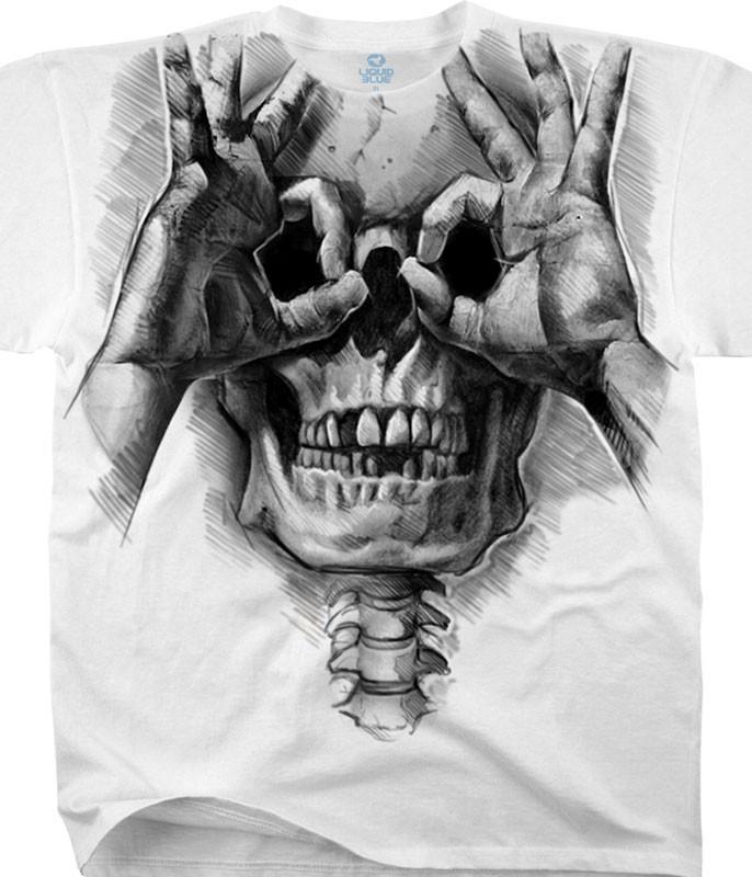 Peek-a-Boo White T-Shirt