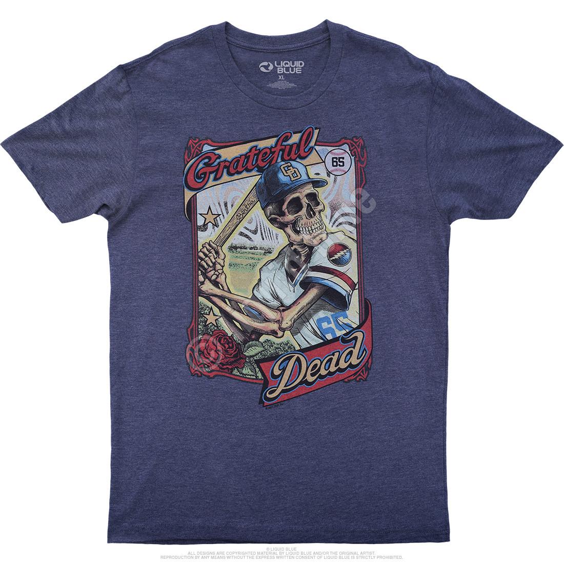 GD On-Deck Dark Blue Heather Poly-Cotton T-Shirt